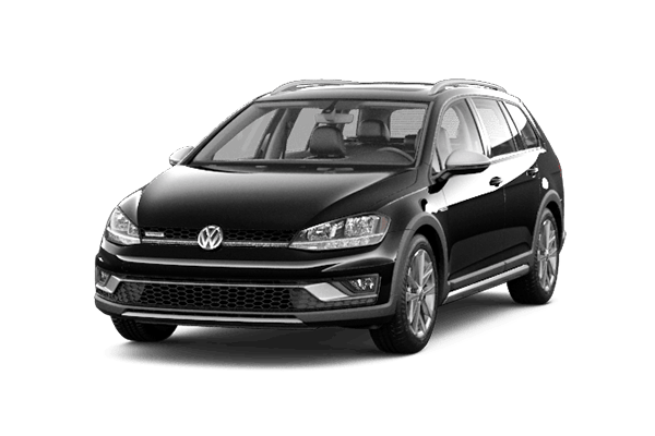 black vw golf alltrack